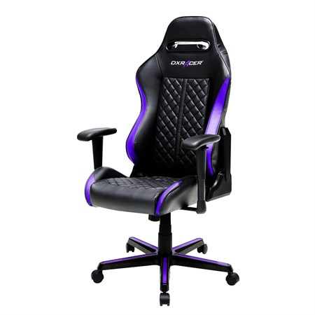 Компьютерное кресло DXRacer OH/DH73/NV Черный, фиолетовый - фото 9275